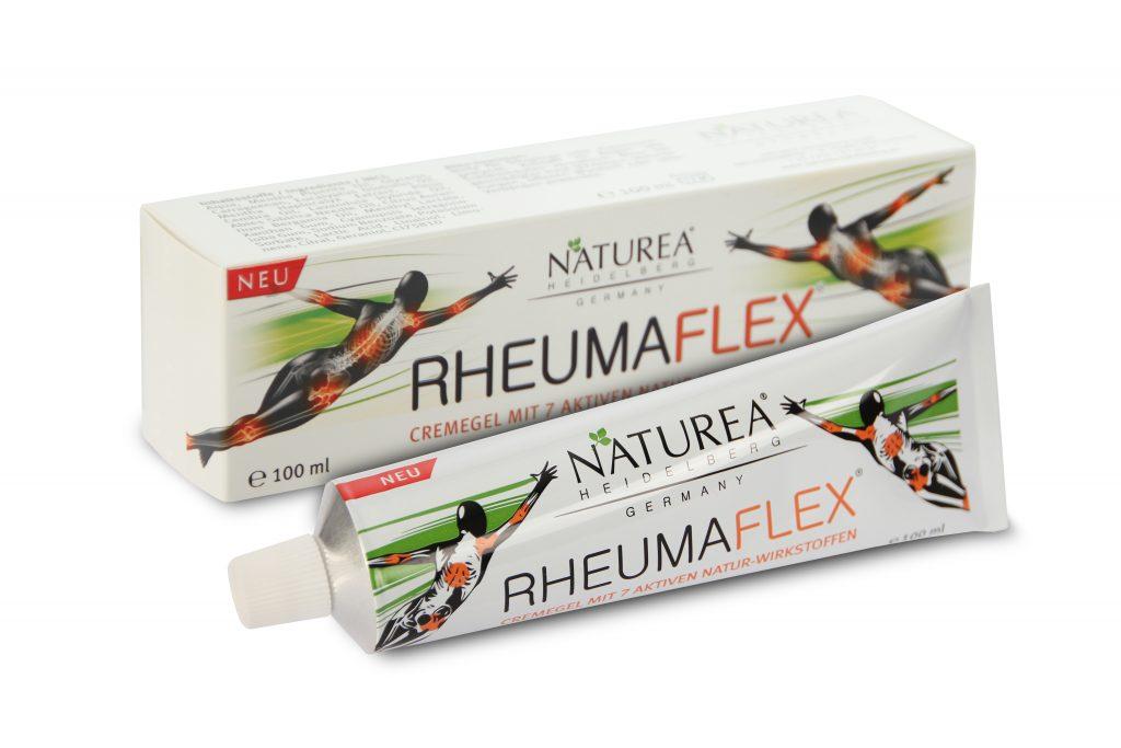 Rheumaflex wohltuend, regenerierend und belebend bei beanspruchten Muskeln und Gelenken